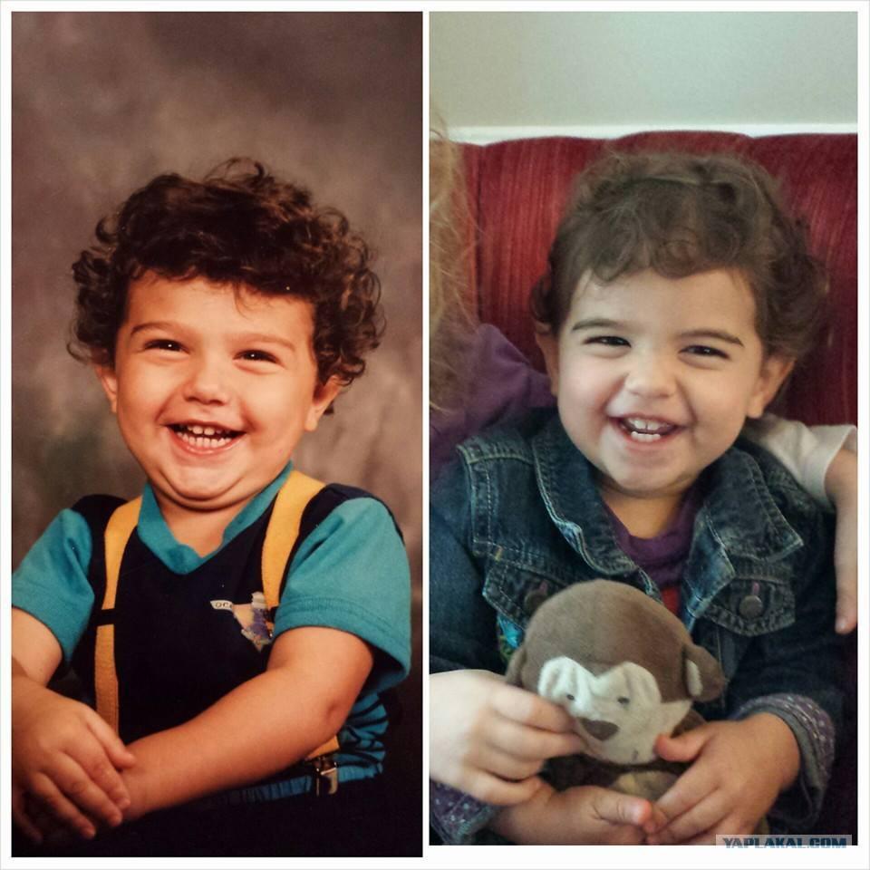 Фото детей и родителей очень похожих