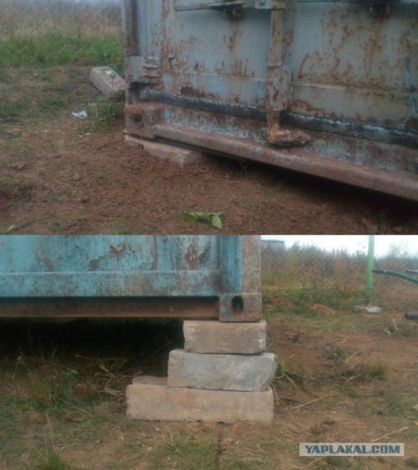 Строим курятник, из 20-ти футового контейнера