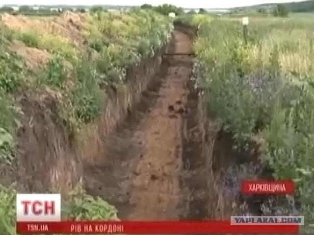 Украинская армия роет окопы на границе с Крымом
