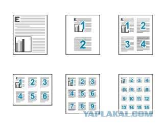 Как распечатать 4 на 1 листе