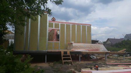 Строительство дома из самонесущих термопанелей