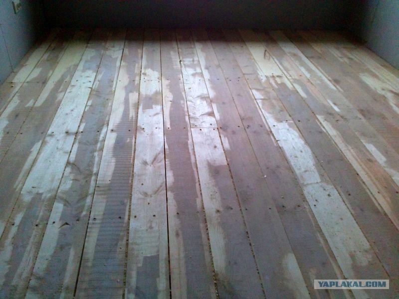 Теплый водяной пол, в деревянном доме.