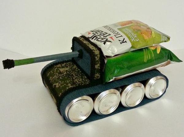 Как сделать танк из пива