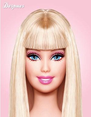 Кукла Барби без макияжа