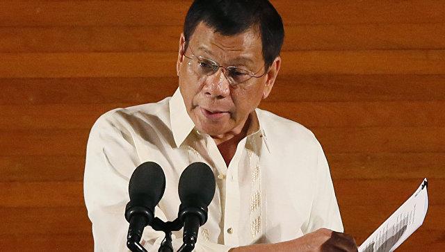 """Президент Филиппин Дутерте заявил, что Обама """"может идти к черту"""""""