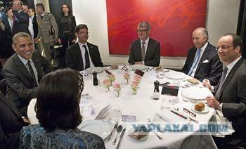 Олланд поужинал с Путиным в Елисейском дворце