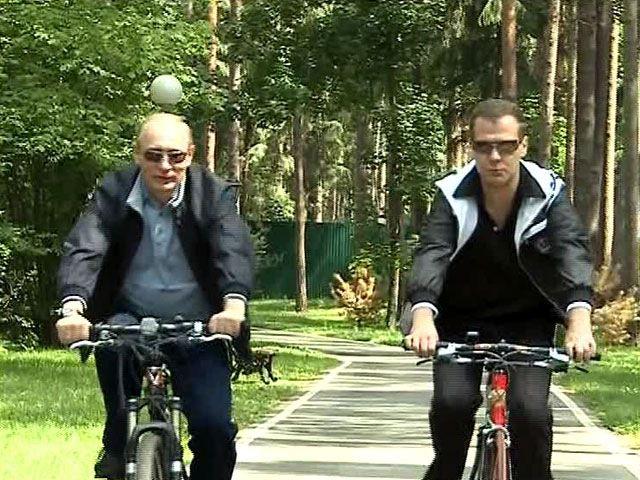 Президент России Дмитрий Медведев и премьер-министр Владимир Путин