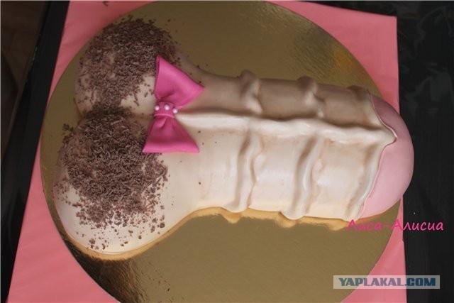 торт, в форме фалосафото