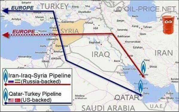 Причина нападения США на Сирию одной картинкой