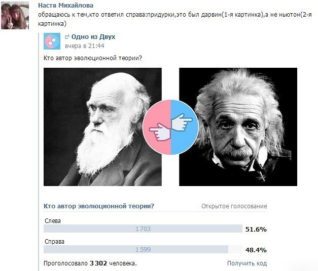Голосование идио... очень образованных людей