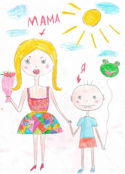 Конкурс детский рисунок о маме