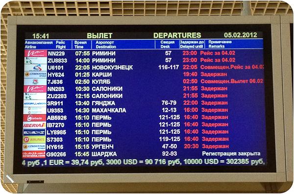 Три незабываемых дня в аэропорту Домодедово.