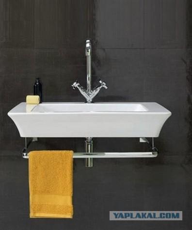 Оригинальное решение для ванной комнаты