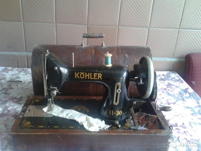 Köhler 11-30. Швейная машинка.