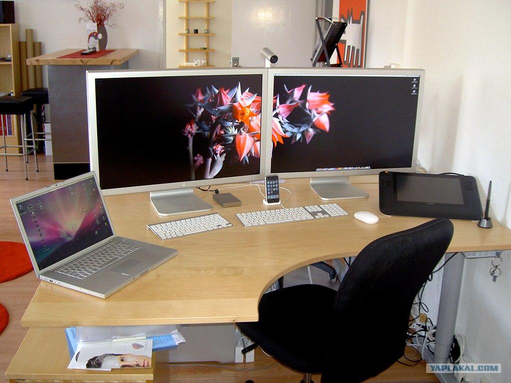 Компьютерный стол на два монитора настройка компьютера с дву.