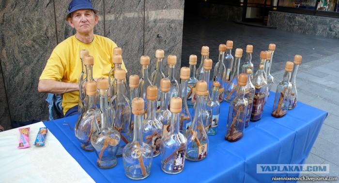 Прикол как разместить деревянный крест в бутылке