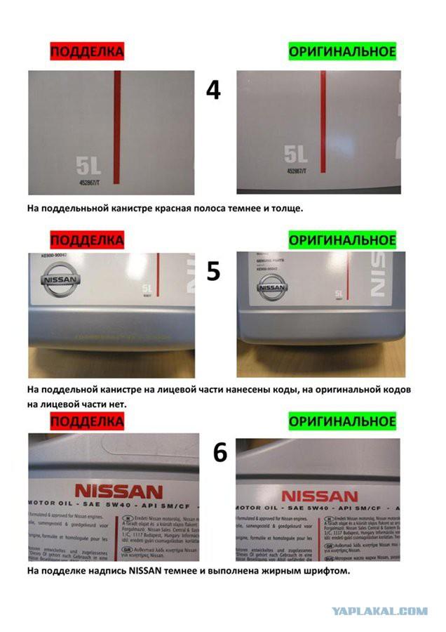 Поддельное масло Toyota, Mazda, Nissan, Mobil