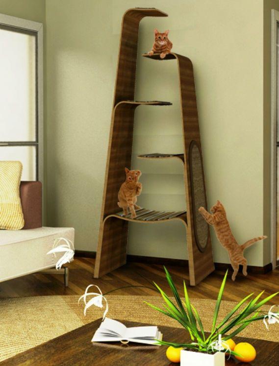Лестницы для кошек своими руками фото