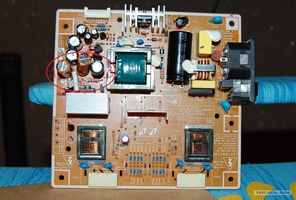 ремонт монитора самсунг 740n схема
