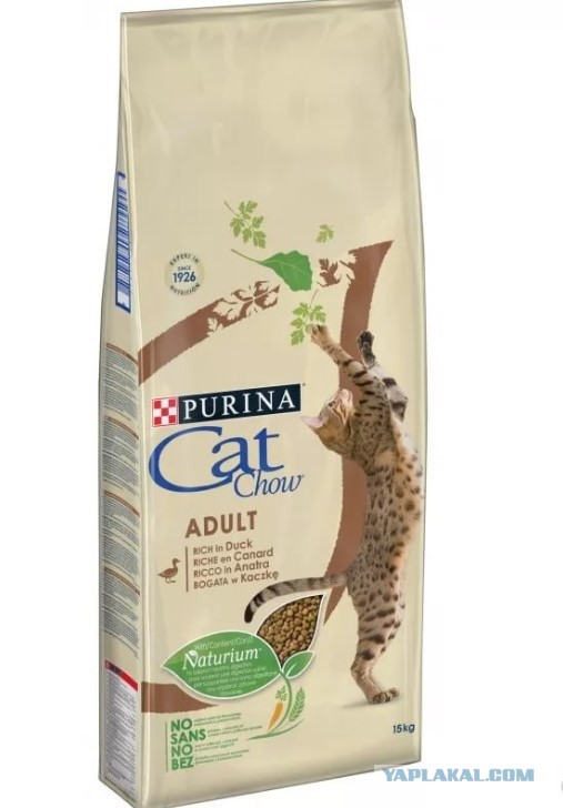 Кошачий Корм сухой CAT CHOW Adult с уткой (15 кг)