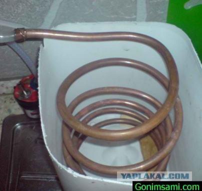 как правильно расположить змеевик в самогонном аппарате