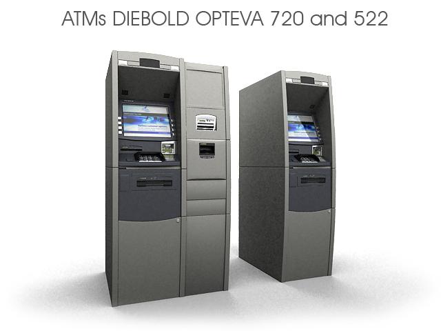 Качественная 3D модель офисного, полнофункционального банкомата.