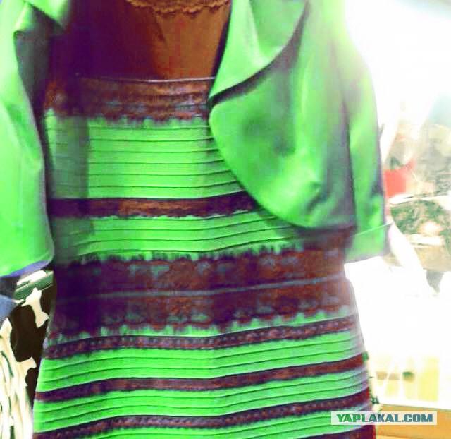 Платье двух цветов обман