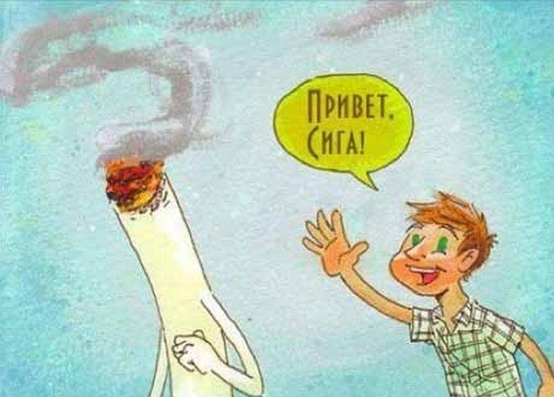 выкладывал в одном посте небольшой комикс на тему: курение убивает)
