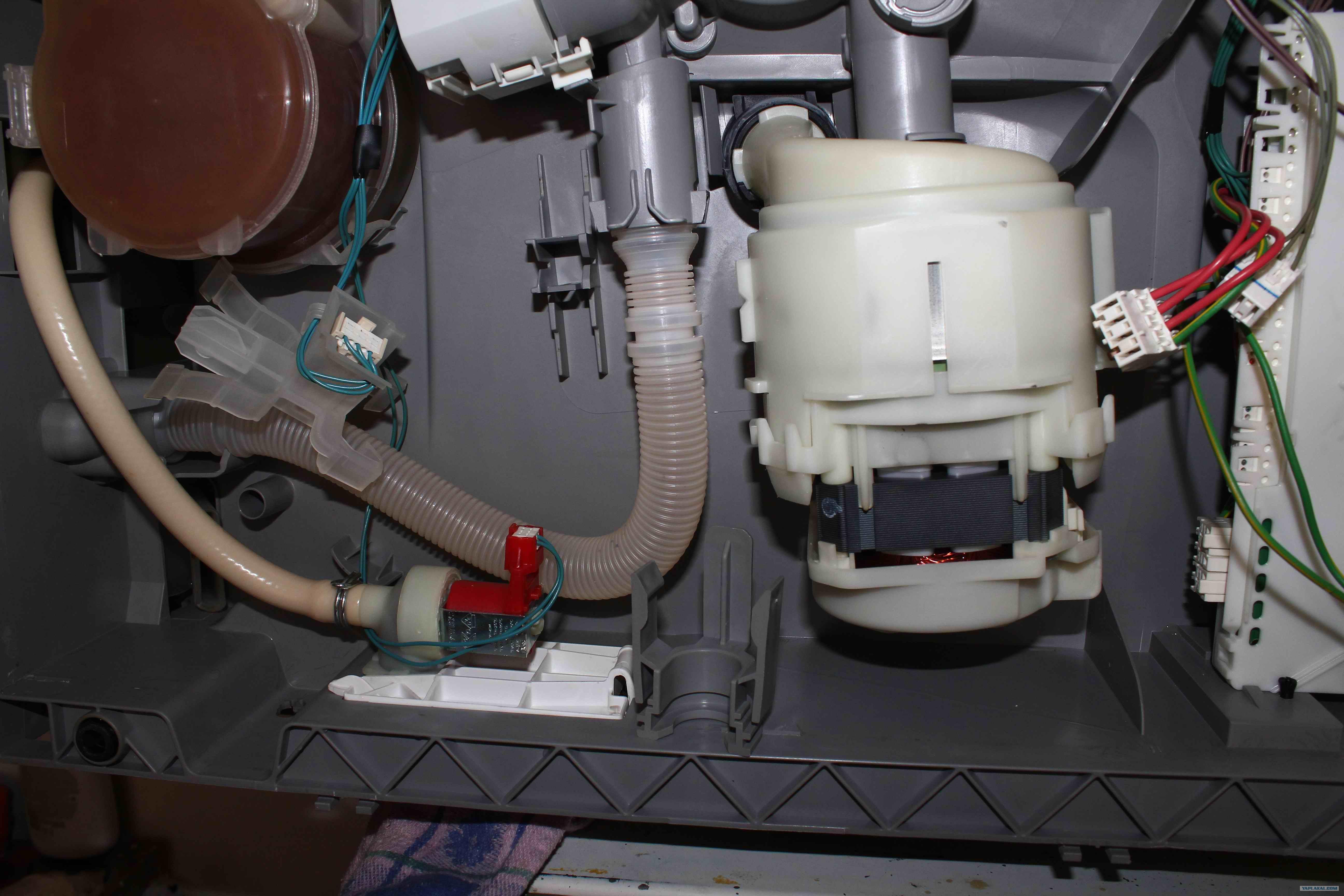 Посудомоечная машина где находятся датчики воды