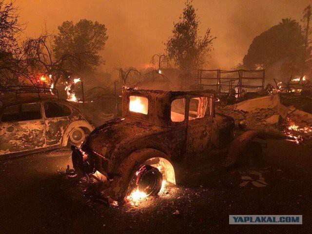 Сегодня город Парадайс (Рай) в Калифорнии полностью уничтожен лесным пожаром. О том как рай стал адом...