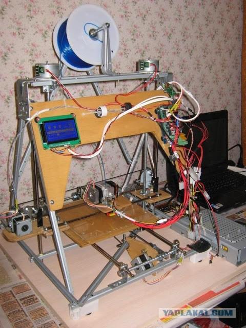 Самодельный 3D принтер из старых аппаратов