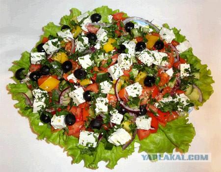 Рецепт салата греческий с классический
