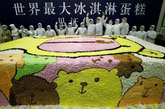 Книга рекордов гиннеса самый большой торт в мире