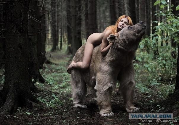 Девушки с медведем порно видео