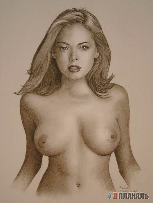 Рисунки девушек голых