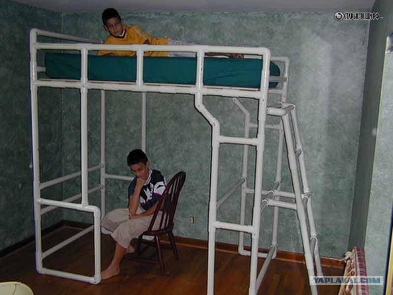 Лестница из трубы пвх своими руками