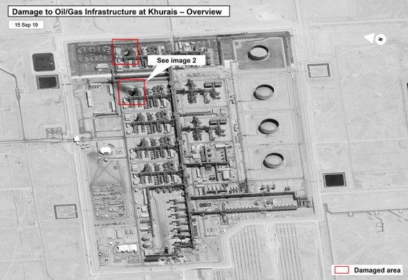 Последствия атаки дронов на Saudi Aramco засняли из космоса. Фоторепортаж