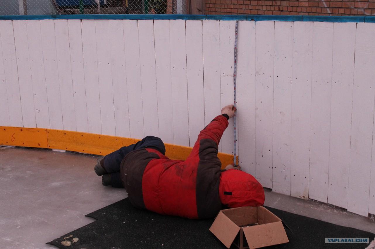 Как подготовить площадку для хоккейной коробки своими руками
