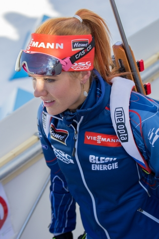 Габриела Соукалова фото с 7-го этапа Кубка мира по биатлону в Canmore, Canada