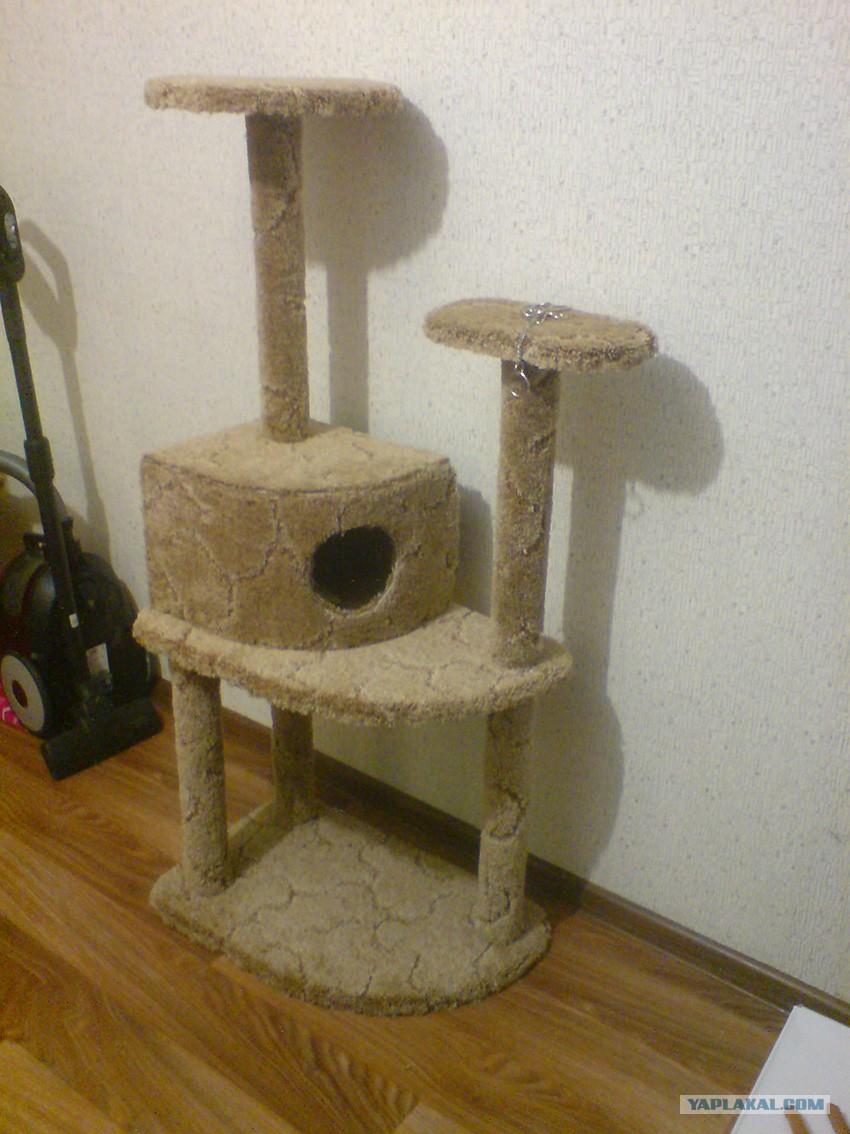 Кошачий домик угловой своими руками 1