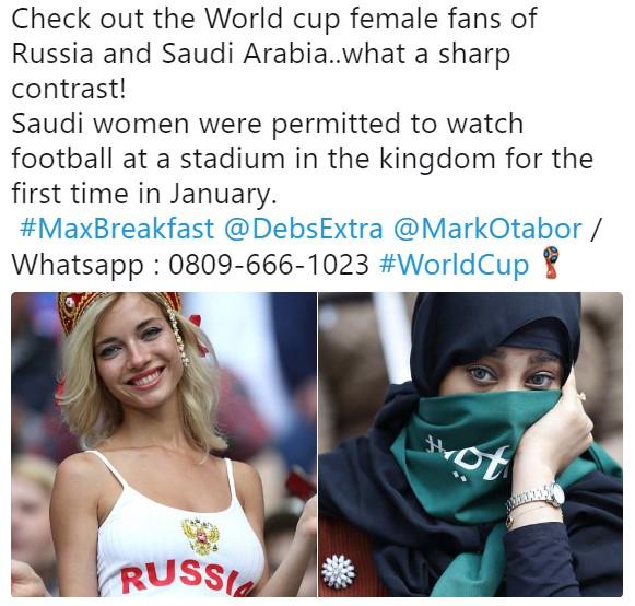 Британцы сравнили российских и саудовских женщин