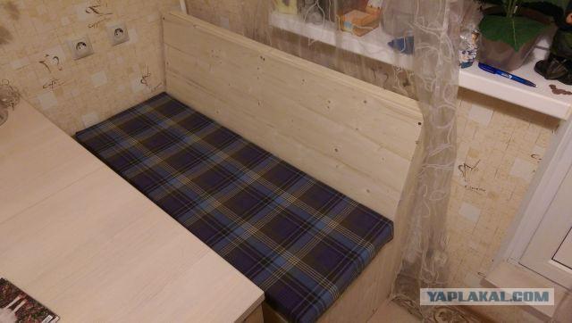 Кухонная лавка и полка для обуви