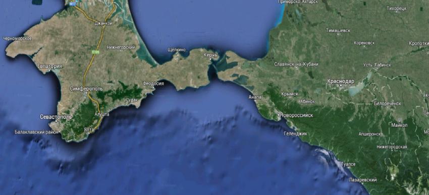 Карта Крыма (спутниковая, подробная)