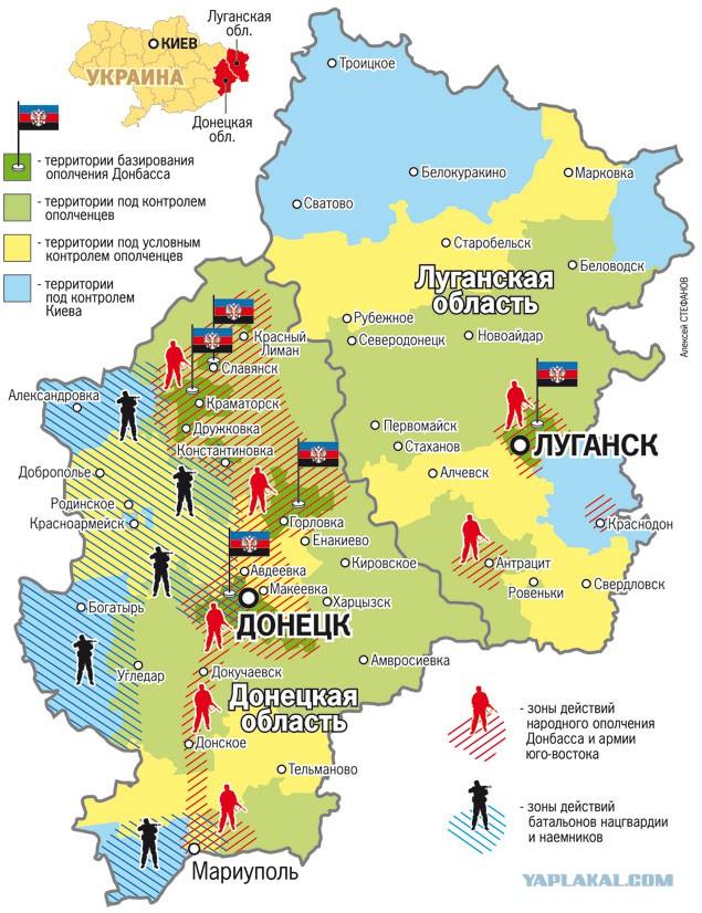 Кто контролирует Донбасс