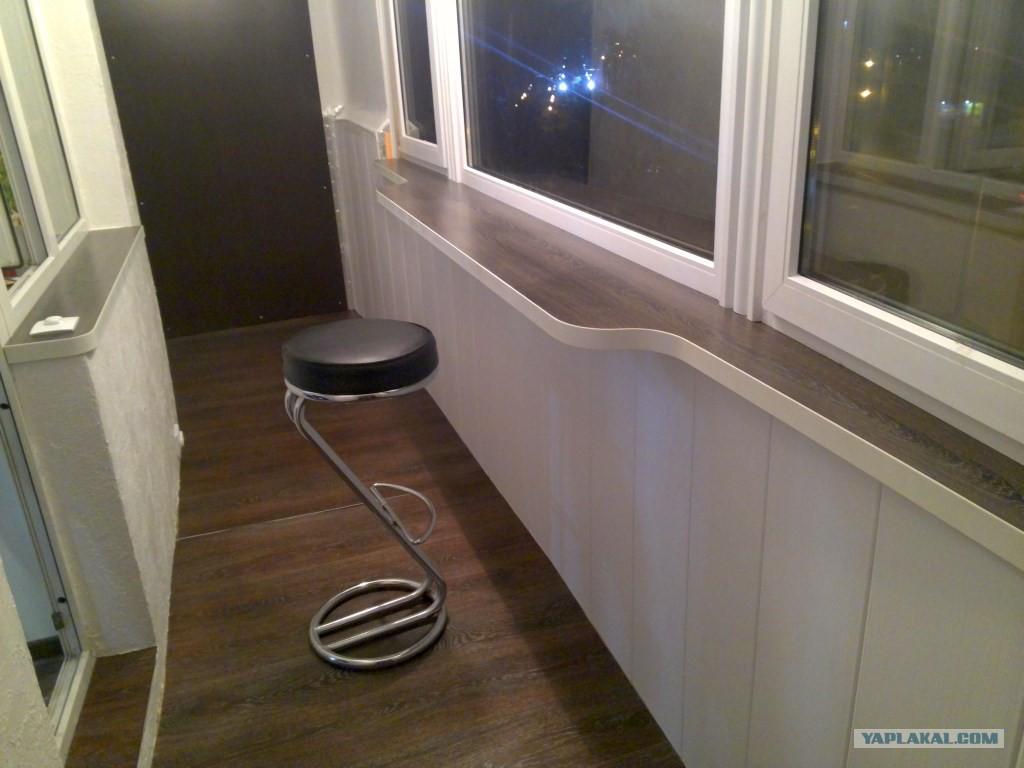 Барный стул и стол для балкона..