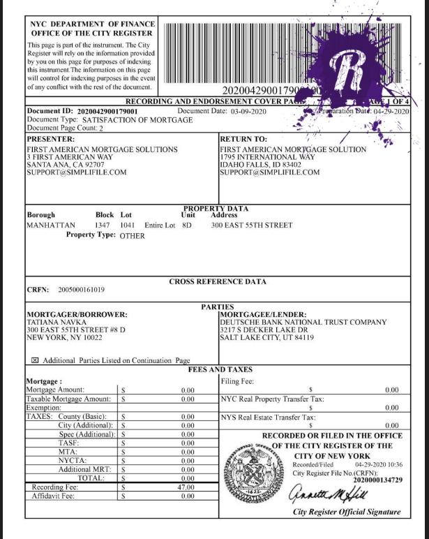 Татьяна Навка выплатила ипотеку за квартиру в Нью-Йорке
