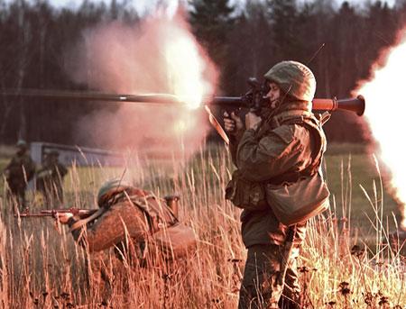 РПГ сжигает американские танки.