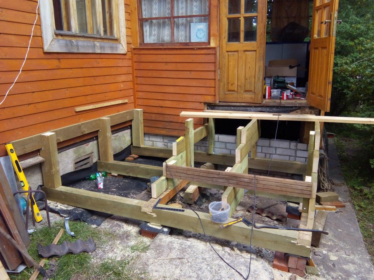 Строительство крыльца к дачному дому своими руками