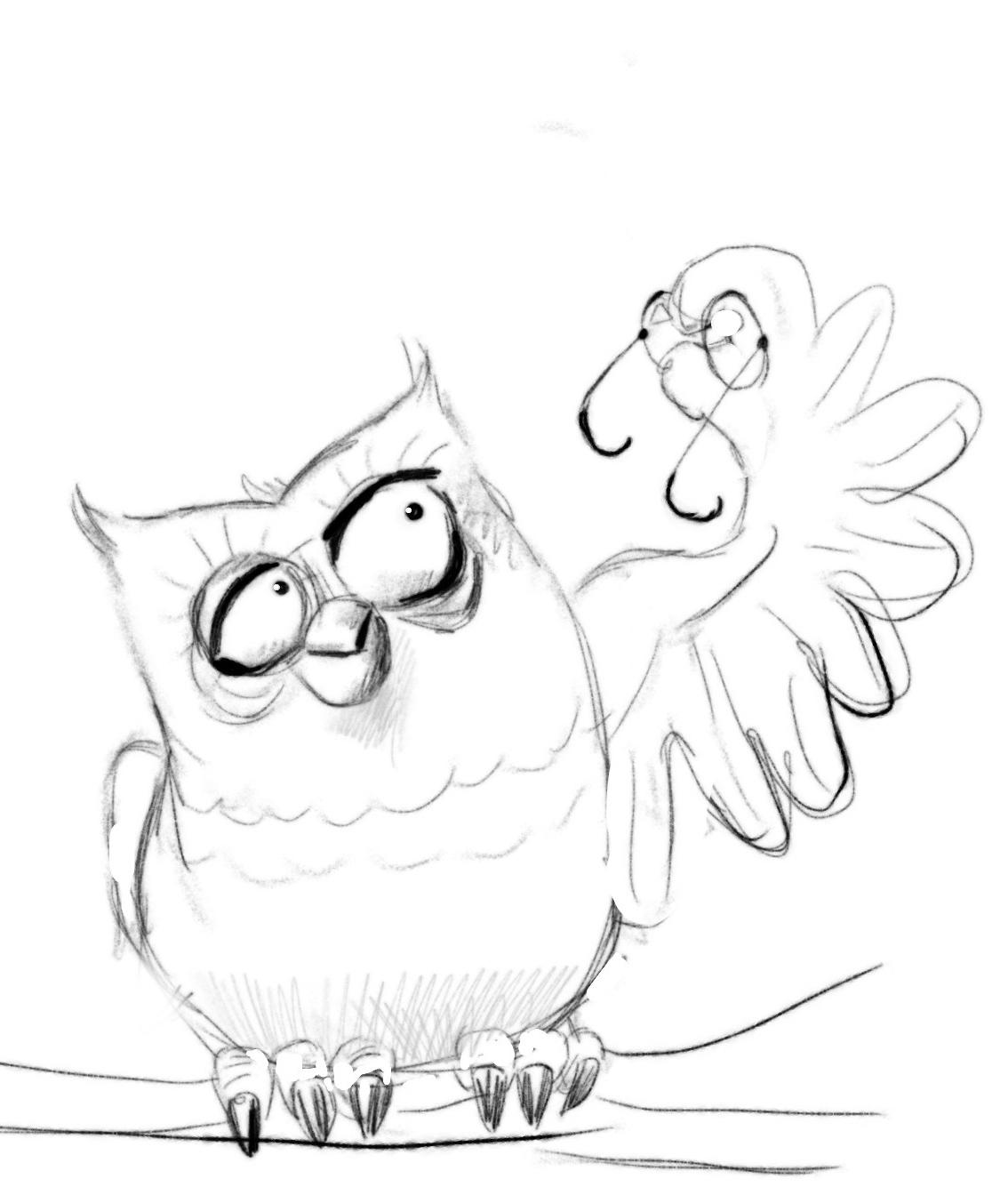 Веселые рисунки карандашом совы карандашом