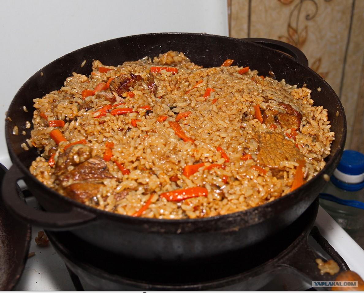 Рис с курицей в казане на плите рецепт пошагово